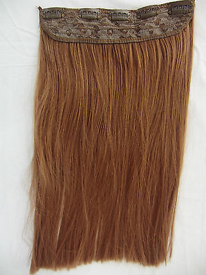 "Brown Hair Piece Straight Extension 17"" long with Combs Halloween Costume"