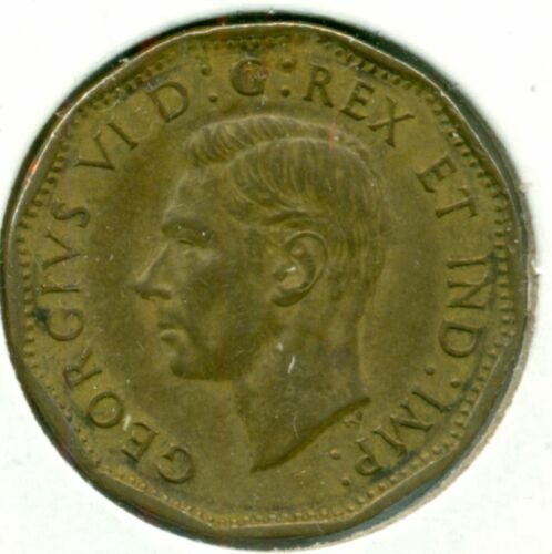 GREAT PRICE! 1943 CANADA FIVE CENTS TOMBAC NICE EF
