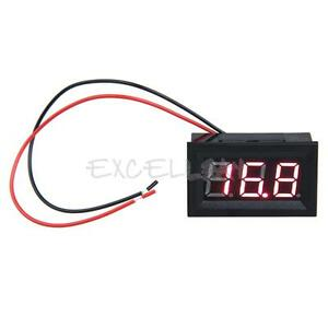 0-56inch-LCD-DC-3-2-30V-Red-LED-Panel-Meter-Digital-Voltmeter-with-Two-wire-E0Xc