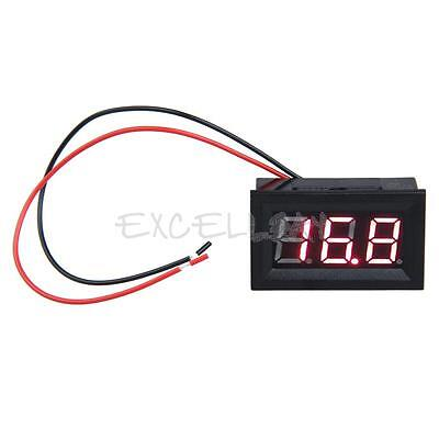 0.56inch LCD DC 3.2-30V Red LED Panel Meter Digital Voltmeter with Two-wire E0Xc