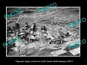 OLD-POSTCARD-SIZE-PHOTO-NAGASAKI-JAPAN-AERIAL-VIEW-OF-CITY-ATOMIC-BOMB-c1945-4