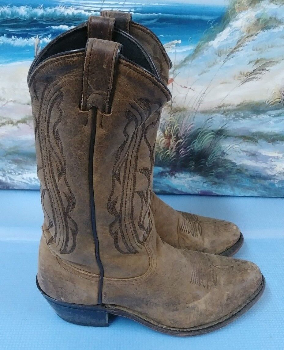 Vintage Brown Leather  Cowboy Cowboy Cowboy Boots 3551 Sz 7M 94fef3