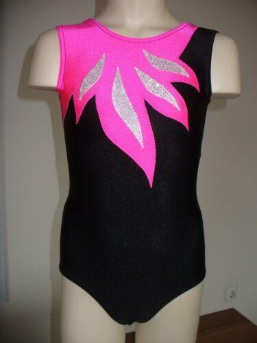 Turnanzug Alle Größen LM-14L  *Schwarz/Pink*  NEU Gymnastikanzug
