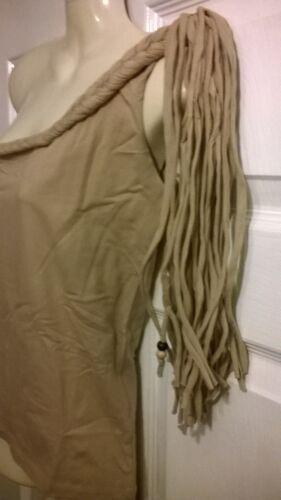 Ladies cumin one shoulder funky tassle top NAUGHTY designer NEW