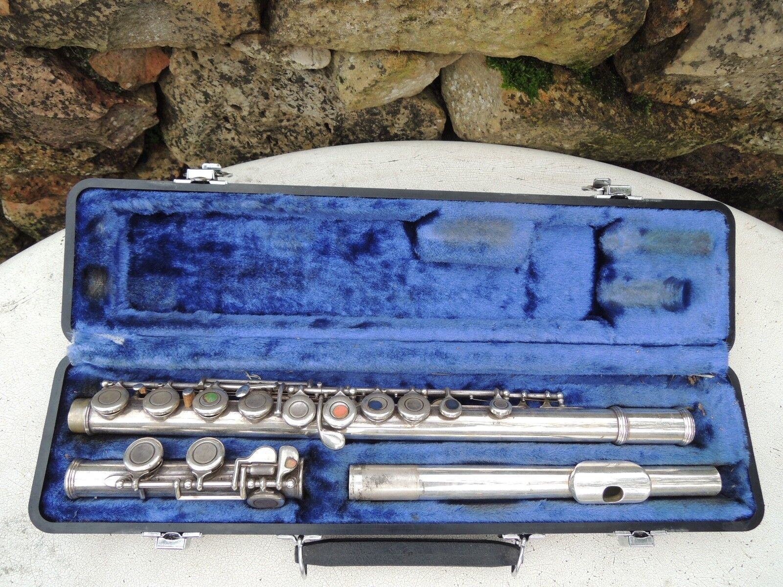 Vintage W. T. Armstrong Student Flute w Hard Case Closed Holes as pictured