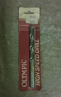 23//64 inch Vermont American 10223 HSS Drill Bit  /< Brand New />