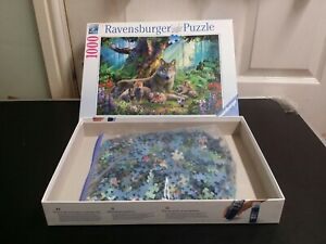 Majestic Loups dans la forêt mère Ravensburger 1000 Piece Puzzle 🧩 Puzzle