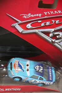 """DISNEY PIXAR CARS 3 """"#42 CAL WEATHERS"""" NEW IN PACKAGE, SHIP WORLDWIDE"""