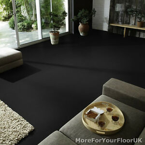 Lovely Image Is Loading Plain Black Vinyl Flooring Non Slip Quality Lino