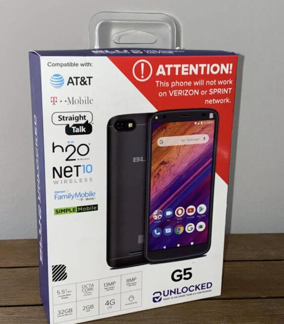 "Blu G5 Unlocked Android 5.5"" Smartphone 32GB Memory 2GB Ram 4G LTE. NEW. SEALED"