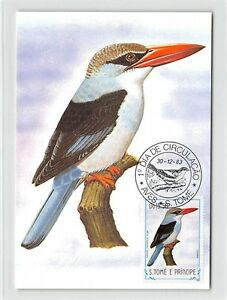 2019 DernièRe Conception S. Tome Mk 1983 Oiseaux Príncipe-rênes Lit-halcyon Carte Maximum Card Mc Cm M294-liest-halcyon Carte Maximum Card Mc Cm M294fr-fr Afficher Le Titre D'origine