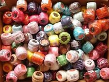 FREE SHIP LOT 10  BALLS #8 PERLE-PEARL COTTON THREADS CROSS STITCH NEEDLEPOINT
