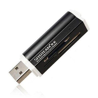 Kartenleser Kartenlesegerät für, Micro SD SDHC Speicherkarten USB Stick schwarz