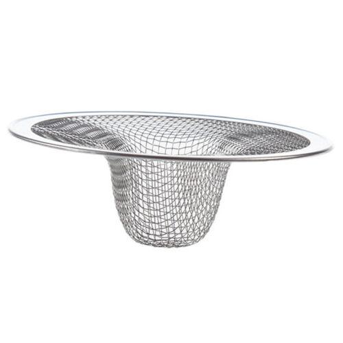 Home Kitchen Sink Drain Strainer Stainless Steel Mesh Basket Strainer Neu DE