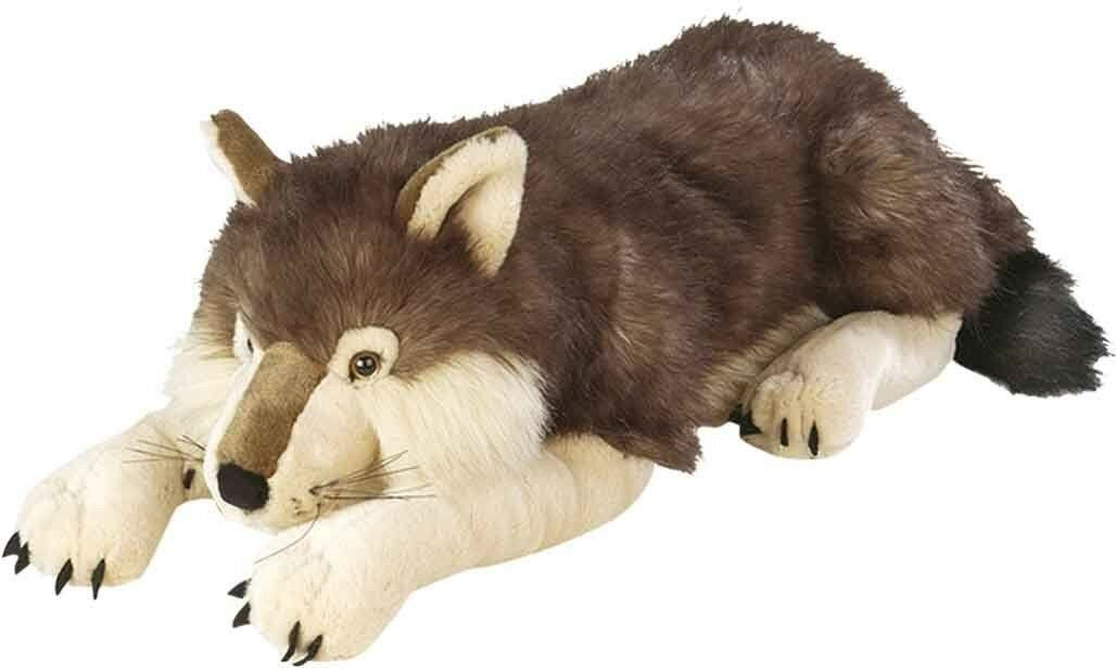 Wolf Dog Realistic Kids Extra Large Toy Stuffed Animal Plush Soft 30