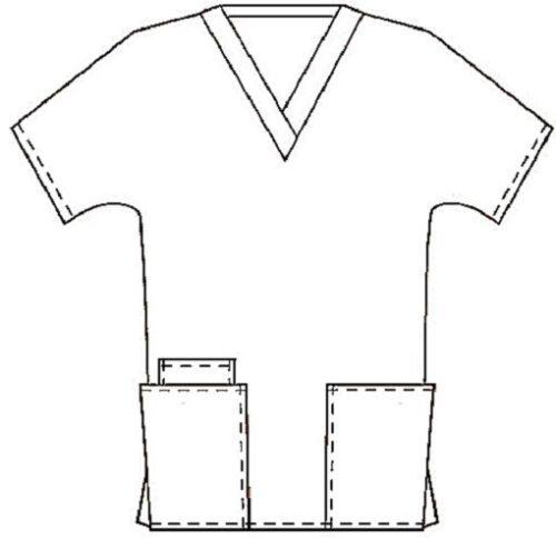Cherokee Scrubs V Neck Scrub Top 4700 CHOCOLATE by Cherokee Workwear