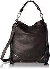 b9ca09a451f0 Liebeskind Berlin Tokio Fringe Leather Hobo Shoulder Bag Nairobi Black