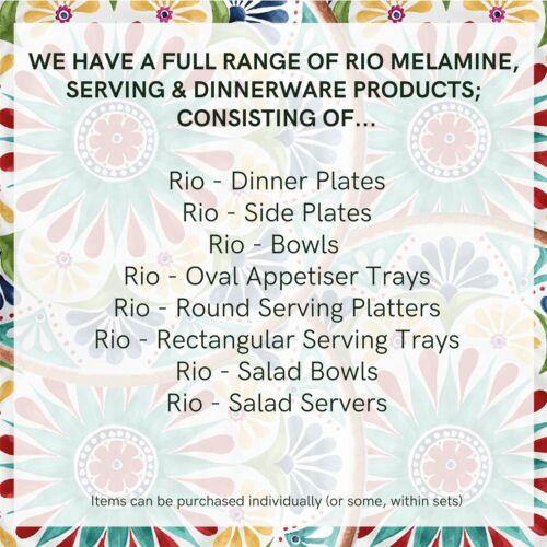 12 Pièce Mélamine Vaisselle-Set pour 4 Epicurean Rio médaillon Extérieur//Camping