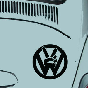 Business & Industrial 2 X Vw Skull Badge Camper Van Beetle Transporter Logo Vinyl Decal