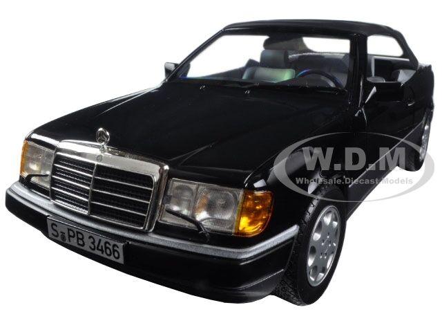 1990 Mercedes 300 nero cósmico entidades 24 Cabrio 1 18 Diecast Modelo Coche por Norev 183566