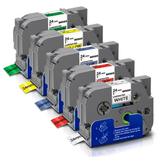 5x TZe-251-751 24mm kompatibel Schriftband für Brother P-Touch D600VP 9700PC 530