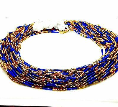 Colorful waist beads Gold waist beads. Tie on waist beads African tie on waist beads Tummy beads