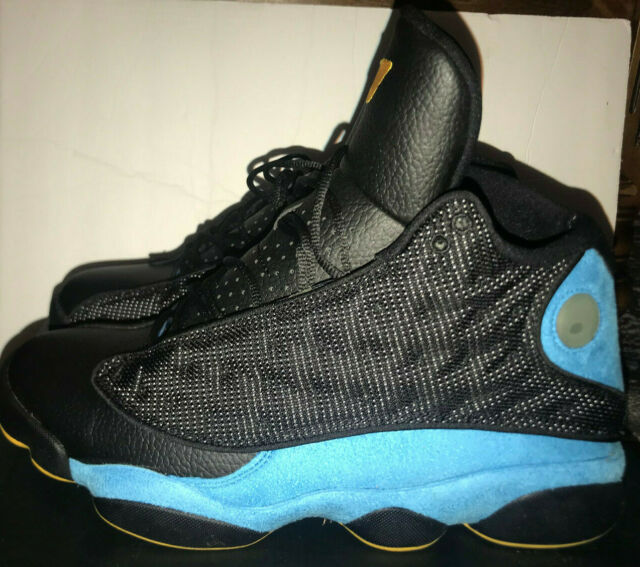 Royaume-Uni disponibilité 20fde c6f97 Nike Air Jordan 13 XIII Retro CP PE Size 11 Black SUNSTONE Blue 823902 015