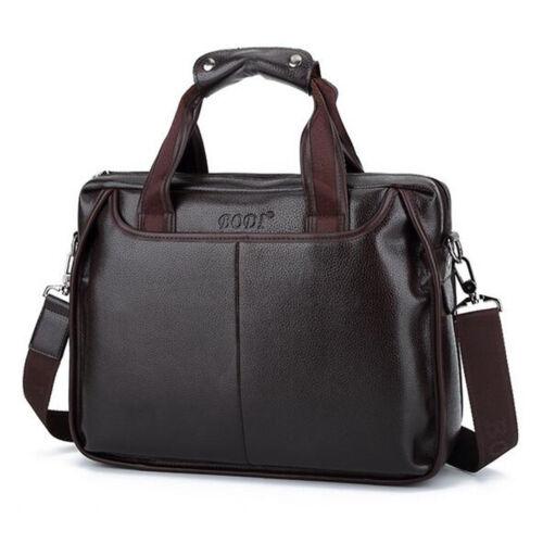 Men Business Leather Handbag Briefcase Shoulder Messenger Bag Laptop Satchel New
