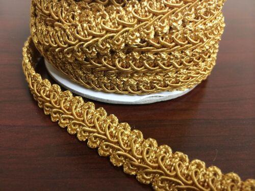 "5//8/"" French Gimp Braid Trim Ribbon Scrapbooking Wedding Decoration 12 Colors"