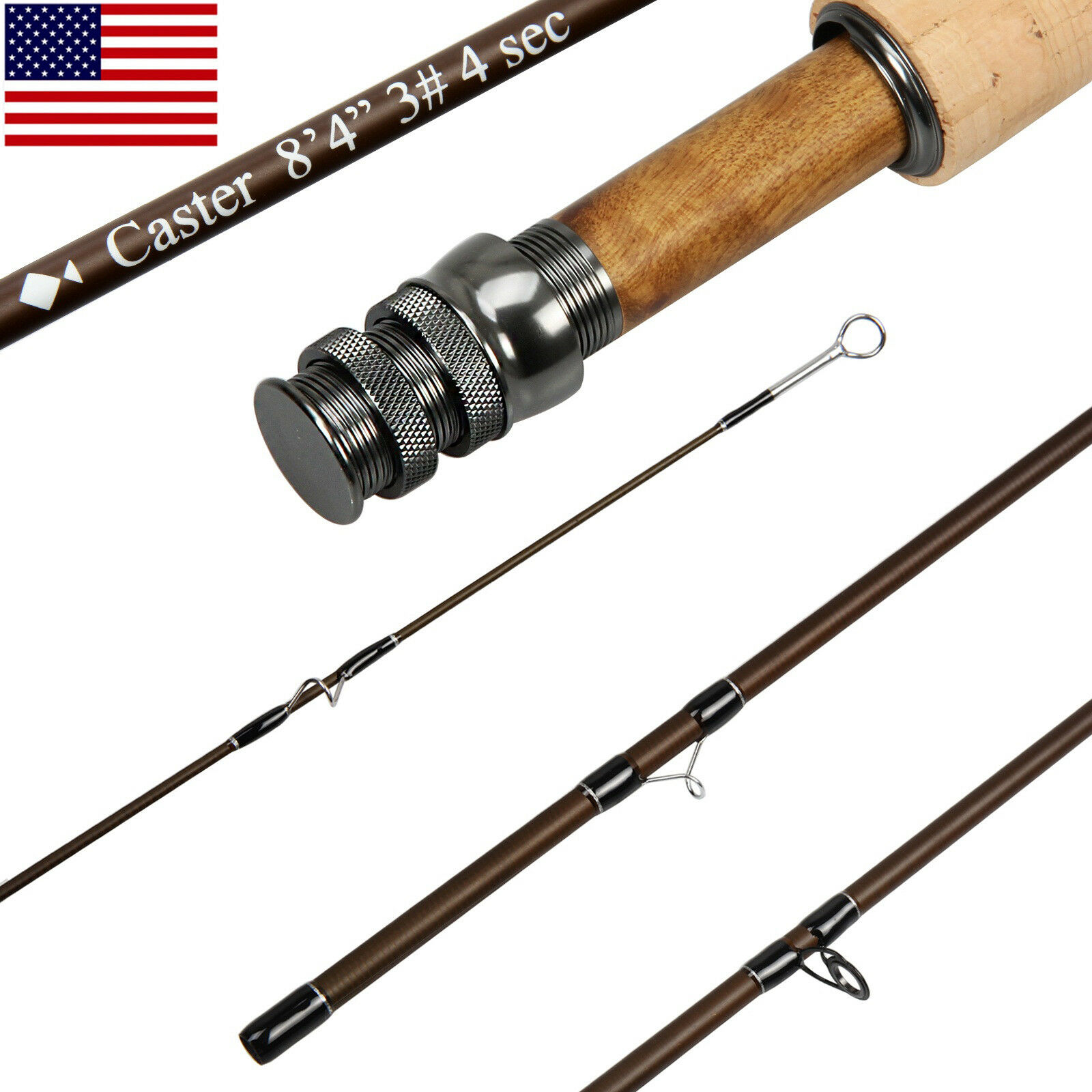 3 5 8WT Fly Rod 8.3FT 9FT Medium-fast  Action 30T Carbon Fiber Fly Fishing Rod  all goods are specials