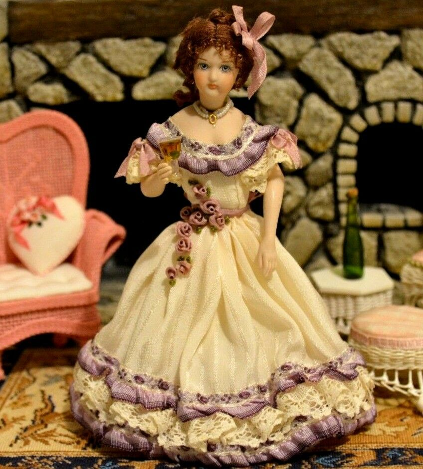 Miniature Doll Porcelain Lady Dollhouse 1:12 Artist Marie Eisman