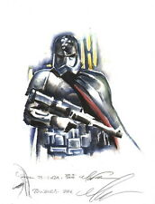Mark Texeira SIGNED Remarqued Art Print Star Wars Force Awakens ~ Phasma