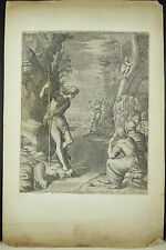 GRAVURE  Raphael II SADELER & Mariette Saint Jean Baptiste dans le désert c 1600