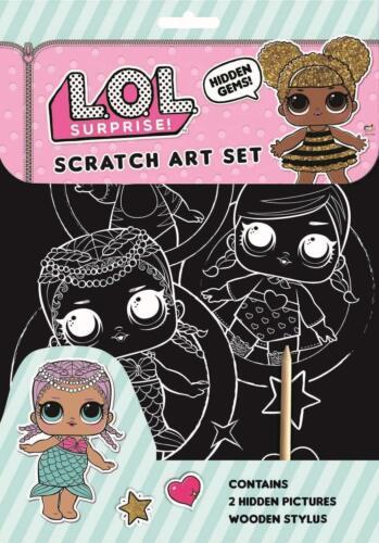 LOL Surprise Scratch Art Set Girls Christmas Gift Mystery Arist Pad Fun 3071LOLS