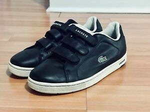 lacoste men leather shoes black size 10 new without tag