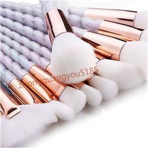 Make Up Brush Set Professional Cosmetic Kit for Foundation Unicorn Design 10pcs