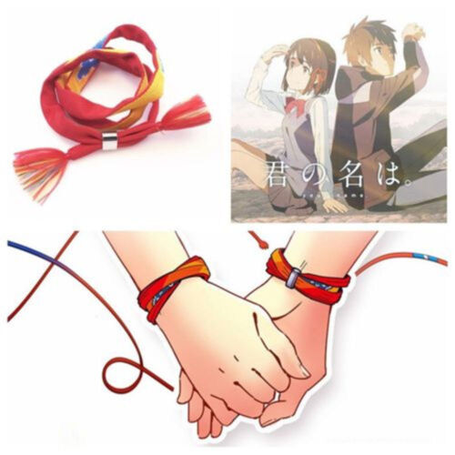 Anime Your Name Miyamizu Mitsuha Lovers Bracelet Fabric Rope Chain Couple Gift