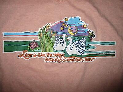 Efficiente Vintage Anni 80 L'amore È Like Luna Sonno Camicia Bellissimo Ever Nuovo Rosa