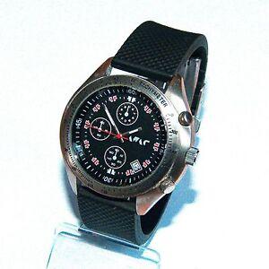 LEoN-Chronograph-Armbanduhr-Herren-Chrono-Uhr-HAU-TOP-Herrenarmbanduhr-Datum