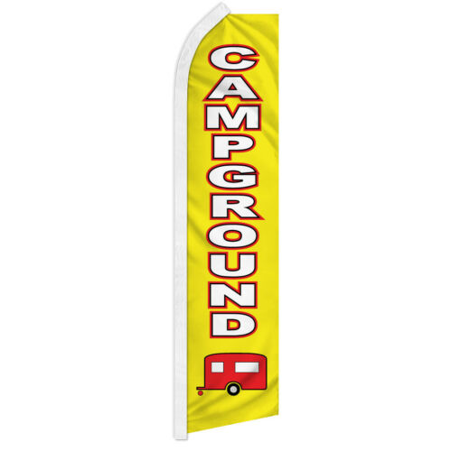 Campground Swooper Flag Advertising Feather Flag RV Parking Lodging Camping