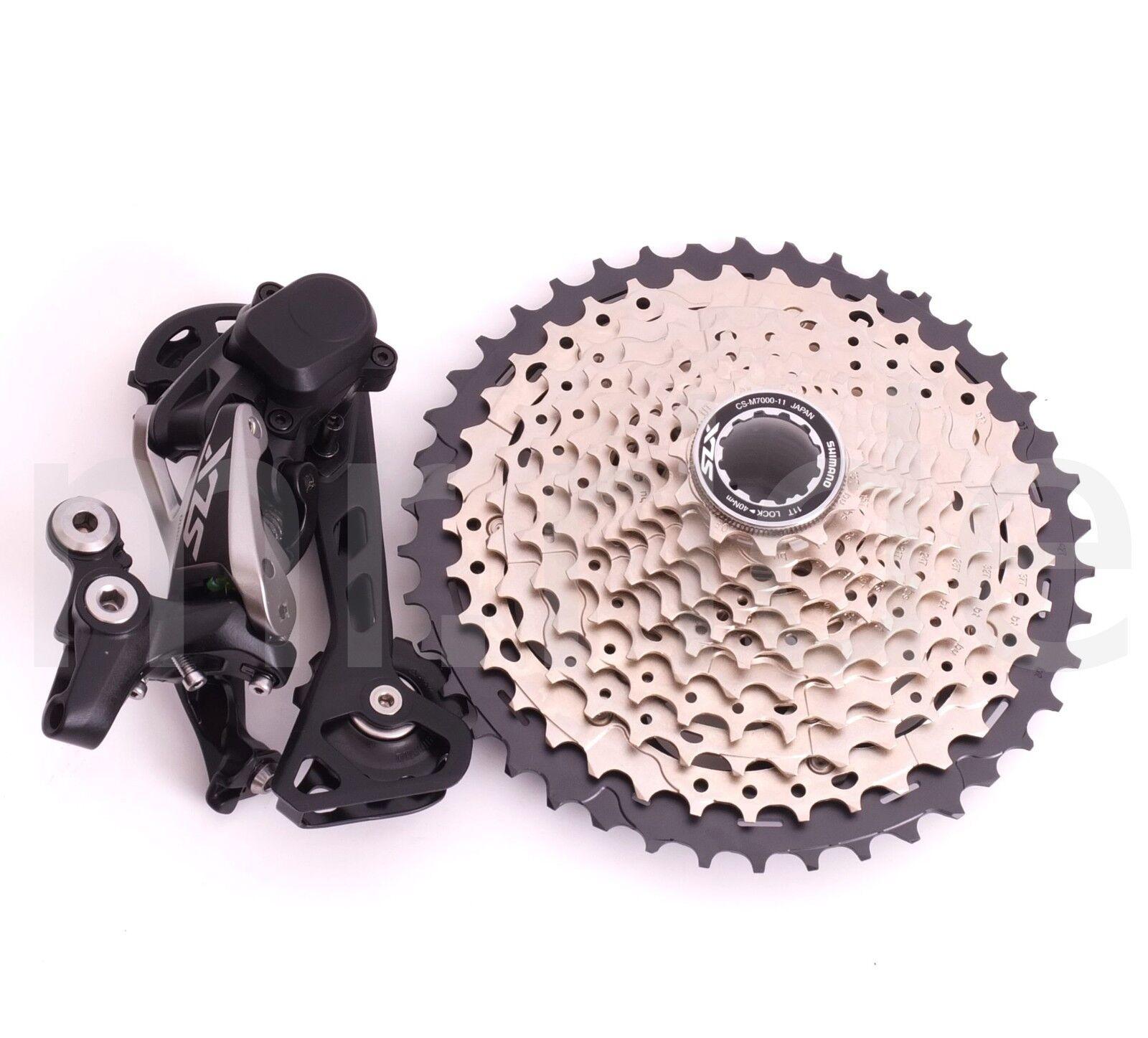 Shimano 2pcs  MTB Bike SLX M7000 11S Derailleur,Cassette 11-42T Group set