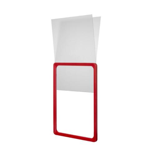 Magnetic Poster Holder /& Sign Display Various Coloured A4 Plastic Frames