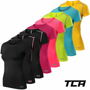 Women-039-s-TCA-Pro-Performance-Short-Sleeve-Base-Layer-Running-Training-Top