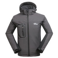 Mens Soft Shell Outdoor Jacket Windproof SoftShell Travel Hiking Cycling Jacket