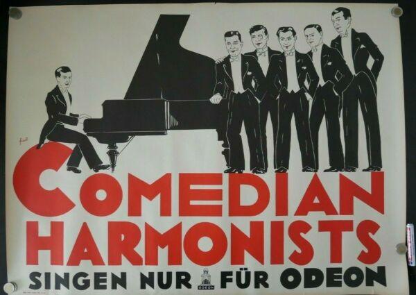 Plakat Comedian Harmonists Odeon Friedl Hell Und Durchscheinend Im Aussehen