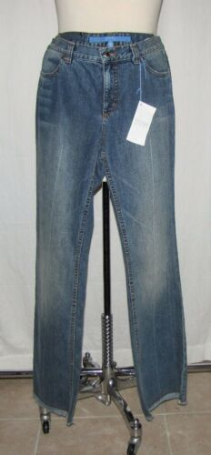 'elise' Denim frangia Sport Nwt Jeans Escada 40 W marrone impunturato 711326598309 Hem Faded Blue 1w8Wanzq