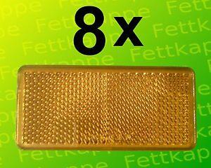 8 x r ckstrahler gelb zum kleben 90x40 mm pr fzeichen for Fenster 90x40