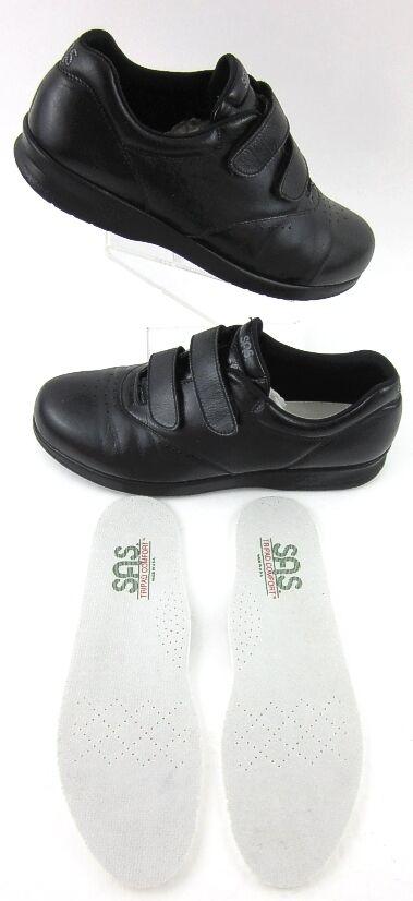 Special Air Service femme  moi aussi  Slip On Chaussures EZ Sangles En Cuir Noir Sz 10N porté 2X