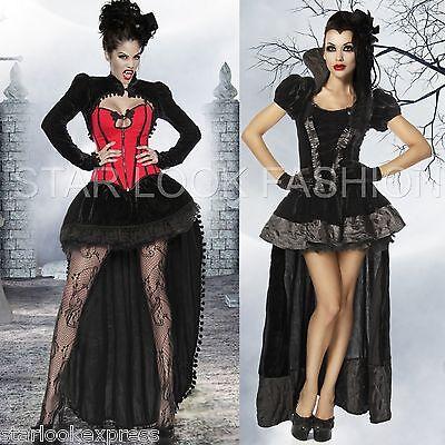 Vampir-Kostüm Dracula Damen Hexenkostüm Karneval Fasching Gothic Kostüm