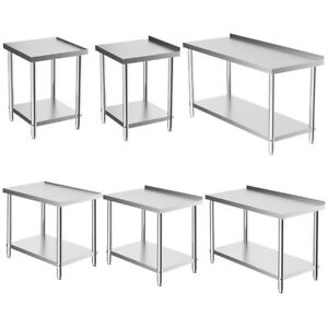 Commercial Table Stainless Steel Kitchen Prep Work Bench Catering Surface 3FT